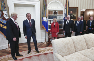 Image: President Donald Trump meets with Russian Foreign Minister Sergey Lavrov