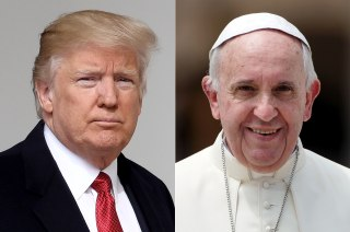 Image: Donald Trump and Pope Francis Combo