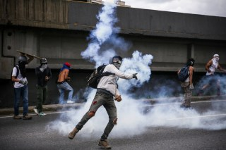 Image: Rally against Venezuelan government in Caracas