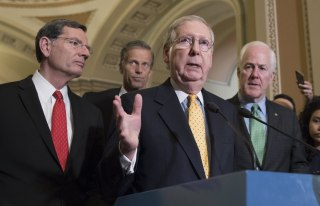 Image: Senate Republicans hold a news conference following a policy luncheon
