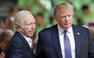 Image: Donald Trump and Joe Lieberman