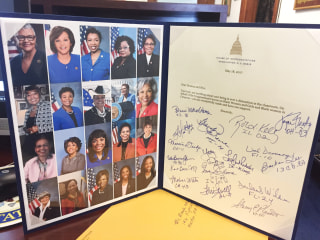 Image: Members of the Congressional Black Caucus sent this card to Deanna and Mya Cook
