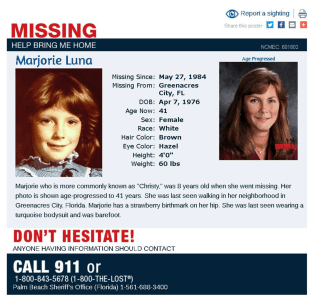Image: Christy Luna missing-persons poster