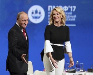 Image: Vladimir Putin and Megyn Kelly
