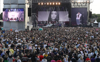 Image: Ariana Grande performs during her One Love Manchester concert