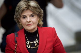 Image: Gloria Allred arrives at the Montgomery County Courthouse