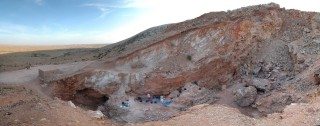 Image: The view looking south of the Jebel Irhoud site in Morocco is shown in this handout photo