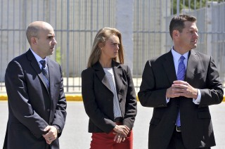 Image: Michelle Carter stands in the parking lot where he boyfriend committed suicide