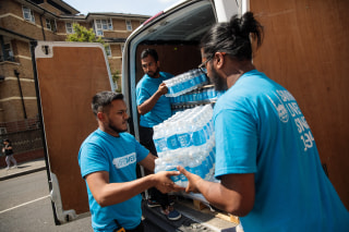 Image: Muslim volunteers brought supplies to local churches in the aftermath of the London tower fire