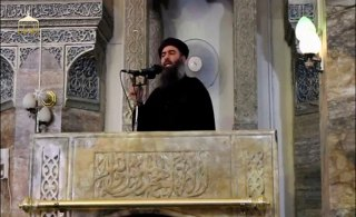 Image: A man purported to be Abu Bakr al-Baghdadi