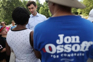 Image: Jon Ossoff campaigns in Sandy Springs, Georgia