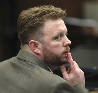 Image: Michael McCarthy watches as jury selection begins for his murder trial