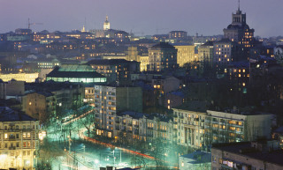 Image: Kiev skyline at night