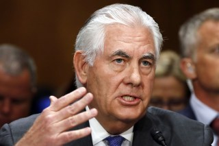Image: Rex Tillerson testifies on Capitol Hill in Washington