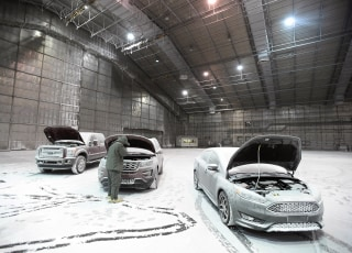 Image: Ford tests models in extreme cold temperatures at the McKinley Climatic Laboratory