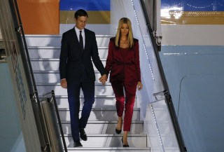 Image: Ivanka Trump and her husband Jared Kushner, senior advisor of President Donald Trump, arrive aboard Air Force One at Warsaw military airport in Warsaw