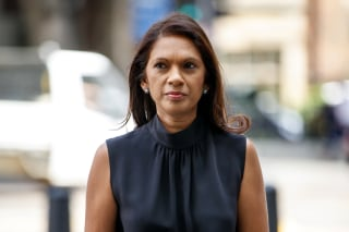 Image: Anti-Brexit campaigner Gina Miller arrives at Westminster Magistrates Court Rhodri Philipps trial