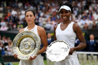 Image: Garbine Muguruza and Venus Williams