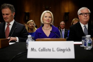 Image: Gingrich takes her seat for a U.S. Senate Foreign Relations Committee hearing