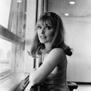 Actress Sharon Tate at London Airport