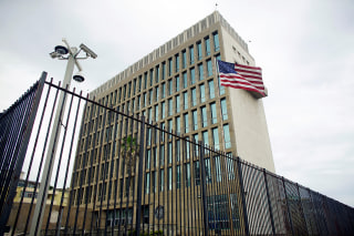 Image: An exterior view of the U.S. Embassy is seen in Havana, Cuba