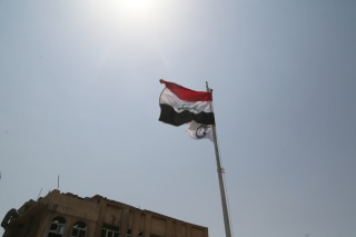 Image: Iraqi flag in Mosul