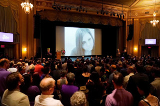 Mourners gather for a memorial service for car attack victim Heyer in Charlottesville, Virginia
