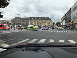 Image: The scene of the stabbing in Turku, Finland.