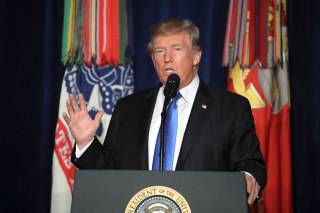 Image: President Trump Addresses The Nation On Strategy In Afghanistan And South Asia From Fort Myer In Arlington