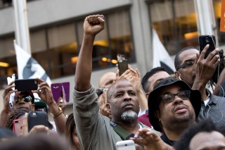 Image: Rally In Support Of NFL Quarterback Colin Kaepernick Outside The League's HQ In New York