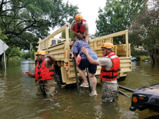 Image: Texas National Guard Soldiers respond after Hurricane Harvey makes landfall in Texas