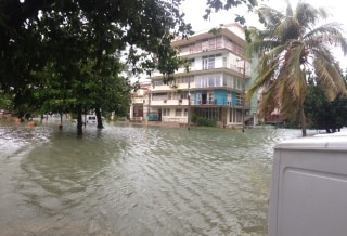 Image: Flooding in Havana, Cuba early Sunday.
