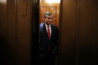 Image: Cruz leaves after a vote at the Capitol in Washington