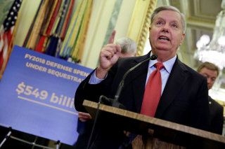 Image: Senator Lindsey Graham (R-SC) speaks during a news conference