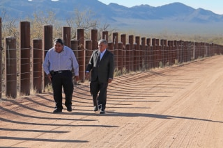 Image: Tohono O'odham Nation Chairman Edward Manuel, right, and Vice Chairman Verlon Jose