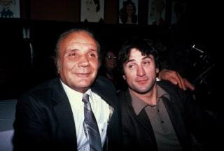 Image: Jake LaMotta and Robert De Niro at Sardi's