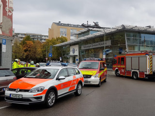 Image: Emergency Services respond to a knife attack in Munich