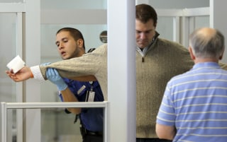 Image: A TSA Security Checkpoint at Newark Liberty International Airport in New Jersey
