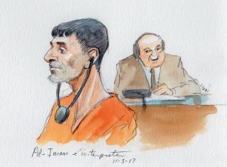 Image: Al-Iman, Benghazi suspect and interpreter in Washington DC on Nov. 3, 2017.
