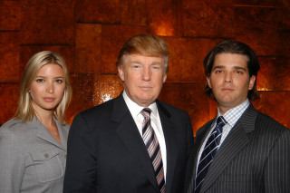 Image: Ivanka Trump, Donald Trump, Donald Trump and Jr. attend the launch of  Trump Ocean Club, International Hotel & Tower