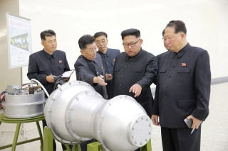 Image: North Korean leader Kim Jong Un provides guidance on a nuclear weapons program in this undated photo released by North Korea's Korean Central News Agency