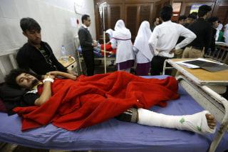 Image: An injured man