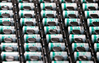 Image: Lithium-ion batteries are pictured at the production site of Saft Groupe, battery specialists, in Poitiers