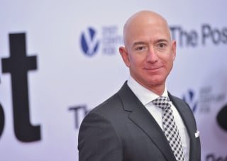 """Image: Jeff Bezos arrives for the premiere of """"The Post"""""""
