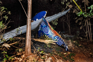 Image: Tail of crashed plane
