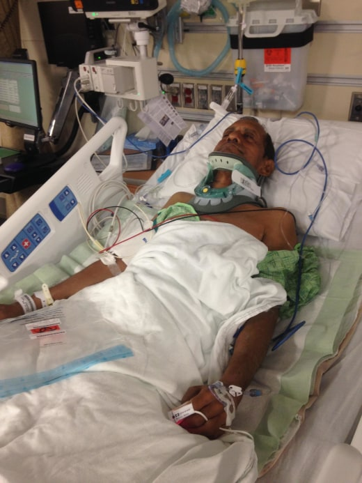 57-year-old Sureshbhai Patel is in the hospital after he was stopped by Madison Police in Alabama while on a walk in his neighborhood.