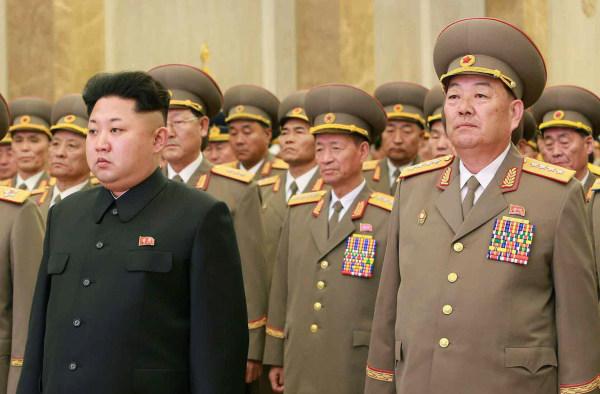 Image: Kim Jong Un and Hyon Yong Chol