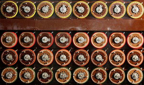 IMAGE: A British 'Turing Bombe' in Bletchley Park Museum in Bletchley, England. The Bombe helped British intelligence decode thousands of messages created by the German Enigma machine during World War II.