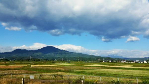 A view of Fukushima Prefecture -- from where Heidi Nielson's ancestors emigrated -- taken from the train while traveling from Sendai to Fukushima City.