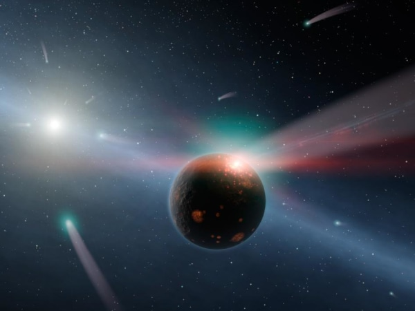 Image: Comet shower
